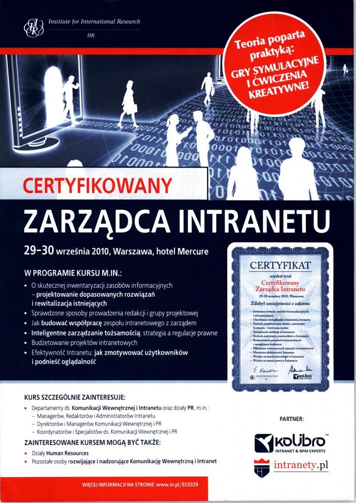 Szkolenie Zarządca Intranetu
